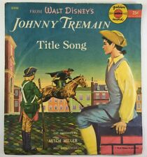 "Vtg 1957 Golden Record 6"" 78RPM Disney's Johnny Tremain Title Song #D340"