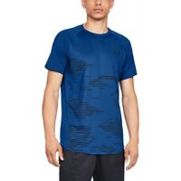 Under Armour MK-1 Camo Men's Short Sleeve Shirt UA t-Shirt Blue 1328380 400