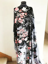 Dressmaking Fabric Graphic Illustrated Sunset Floral/Flower Satin Back Crepe 1.2