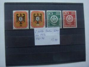 2 postfr. BERLIN-Sätze von 1956 mit den Mi.-Nrn. 136-139