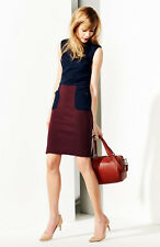 NWT Tory Burch Brianna Colorblock Sheath Dress Plum and Navy $345 – XL