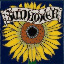 Ceramic Tile Handpainted Original Art Sunflower wall decor/trivet/backsplash