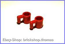 Lego 2 x rote Becher Tassen - 3899 - red utensil cup - NEU / NEW