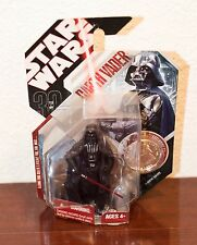 2007 STAR WARS A NEW HOPE DARTH VADER ACTION FIGURE & COLLECTIBLE COIN MOC