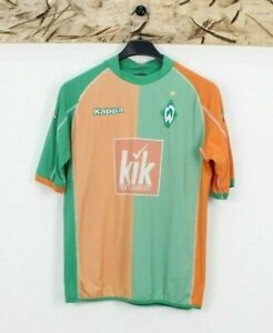 Maillot Football Vintage Kappa Werder Bremen Taille L (Cod.T38) Used Vert Orange