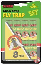 8 x Gonski Flying Insect Sticky Bug Wasp Fly Poison Free Paper Traps Catchers