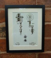 """Estados Unidos de Patentes Vintage primera máquina de tatuaje montado enmarañado impresión 10 """"x 8"""" 1891 Regalo"""