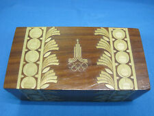 Olympics 1980. Moscow. Wooden Box Casket.