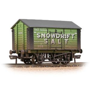 Bachmann 33-182A 10T Covered Salt Wagon Snowdrift Salt Green Weathered 00 Gauge