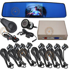 Front&Rear 8 sensors detection 2pcs cameras video display and distance alarm