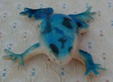 Vintage Blue Plastic/Rubber Toy Frog with Black Spots!