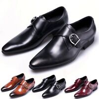 Men's Oxfords Leather Formal Casual Dress Slip On Wing Tip Wedding Work Shoes SZ