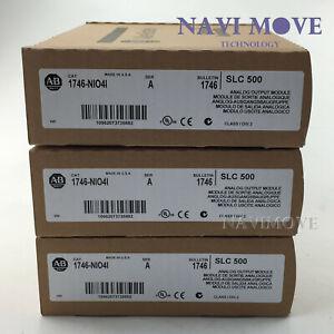 New Factory Sealed Allen Bradley 1746-NIO4I /A SLC 500 Analog Output Module USA