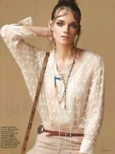 $349 IRO Oltane silk blouse size 36 UK8 --BRAND NEW-- Ecru 100% Silk lace-up