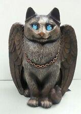 Cat Spirit Familiar Candle Lamp Votive Stone Finish Windstone Editions #2006