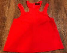 MINKPINK Bright Cherry Red High-Neck Off-Shoulder Top Blouse Size Medium