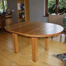 SOLID OAK WOODEN CONTEMPORARY BESPOKE HIGH QUALITY DINING TABLE SEATS UP TO 6
