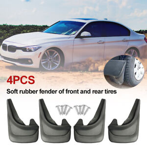 4PCS Universal Car Accessories Mud Flap Splash Guard Mudguards For SUV Truck Van