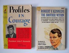 Lot of 2 vintage Kennedy Paperbacks Profiles in Courage & RFK:The Brother Within