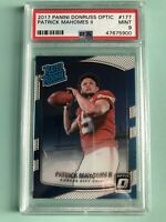 Chiefs Patrick Mahomes PSA 9 Rookie 2017 panini donruss optic