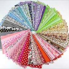 50Pcs 10x10cm Random Pattern Cotton Fabric Bundle Patchwork For Crafts & Sewing
