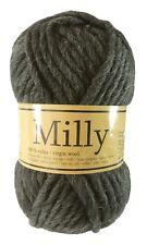 Filzwolle Milly 50 G Nr. 07 dunkelgrau wolle Zum Strickfilzen 100 Schurwolle