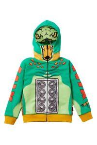 Volcom Surf Boy's Hot Wheels Hooded Zip Sweatshirt Green Turboa Hoodie 5/6/7