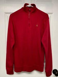 Ralph Lauren Polo Boy's L/S Banded Half-Zip Pullover Shirt Top: XL (18-20), Red