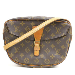 LOUIS VUITTON Genefille GM Monogram Shoulder Bag PVC Leather Brown M51225