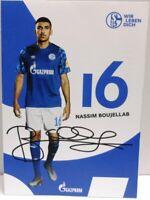 Nassim Boujellab + Autogrammkarte 2019/2020 + FC Schalke 04 + AK2019121 +