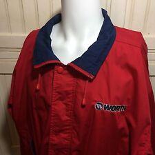 Vintage Worth Baseball Red Navy Jacket Coat Hartwell Via Sport Size Large L