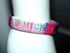 I Love Mickey Wristband Rubber Bracelet Colorful Mouse Collectible Memorabilia
