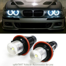 2pc Angel Eyes 7000K 20W LED Halo Ring Marker Bulbs For BMW X5 E39 E60 E63 E61