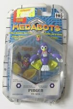 VINTAGE 2001 HASBRO MEDABOTS PINGEN Action Figure & Trading Card & Die VERY RARE