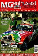 MG Enthusiast Magazine November 2004 - FULL Contents index see listing pictures
