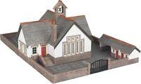 Metcalfe PN153 Village School Die Cut Card Kit N Gauge