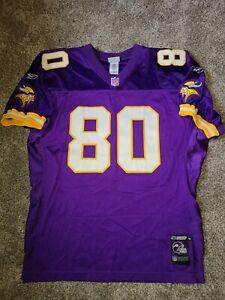 Cris Carter Reebok Helmet Tag Authentic Minnesota Vikings Jersey 52