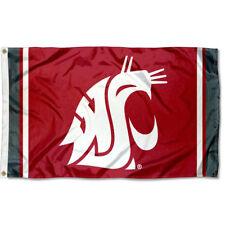 Washington State Cougars Jersey Stripes Flag Large 3x5