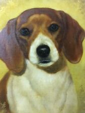 beagle oil painting