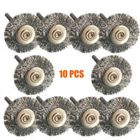 10PC Stainless Steel Wire Brush Set Dremel Tool rotary die grinder removal wheel