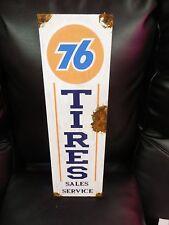 Antique style-porcelain look union 76 oil dealer gas pump sign tire sales