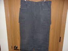 """PreOwnDuluthTrading Men's """"Flex Fire Hose Ultimate Work Pants""""36 X 32 Steel Blue"""