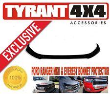#0402016 Ford Ranger XLT XLS Black Bonnet Protector Bug Stone Guard Deflector