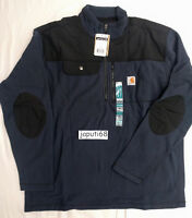 Carhartt Fallon HALF Zip Fleece Sweater NAVY XL [BN51-2836] READY TO SHIP