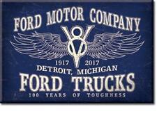 Ford Motor Company V8 Trucks Vintage Style Werbung USA Magnet Magnetschild