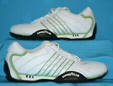 ADIDAS TEAM Tuscany Goodyear ADI Racer White Green Driving Athletic Shoes 7.5
