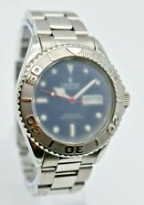 Men's CROTON 21 Jewel Automatic Diver Style Watch, Day/Date Blue Dial, Stainless