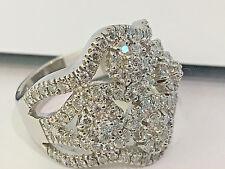 14K White Gold Diamond Cluster ring 2.25CT. VS2 Clarity.size 8.DESIGNER RING!!