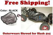 Traxxas Slash 4X4 ESC Receiver Chassis Shroud by Outerwears 20-2601-01 BLACK