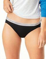 Hanes 6 Pack Bikinis Panties Underwear Cool Comfort Women's Microfiber Sporty